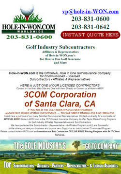 3COM Corporation Hole in One Insurance