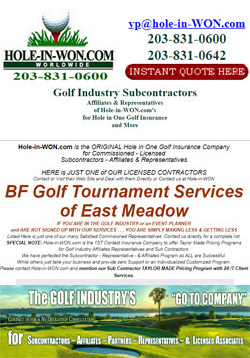 BF Golf Tournament Service Hole in One Insurance