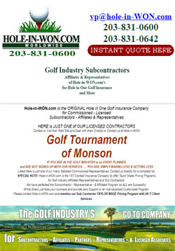 Golf Tournament Planner Hole in One Insurance