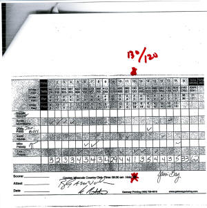 Hole in One Fraud Troy Peissig Montana Case 130 yards official score card for a 170 yard hole USGA Rules Scammer.jpg