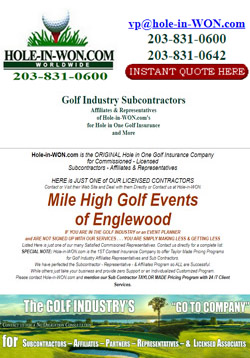 Mile High Golf Events Hole in One Insurance