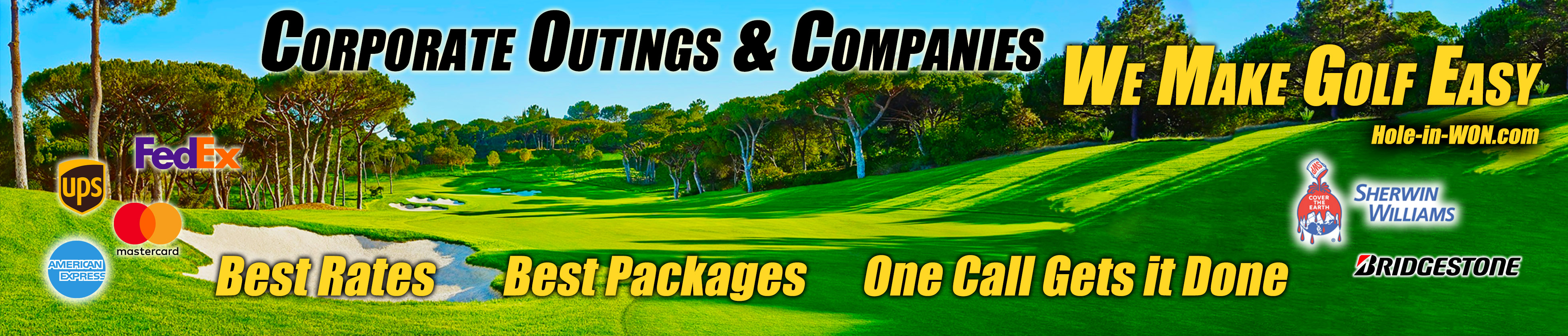 Corporate and Organizations Golf Tournament Golf Insurance Hole-in-WON.com