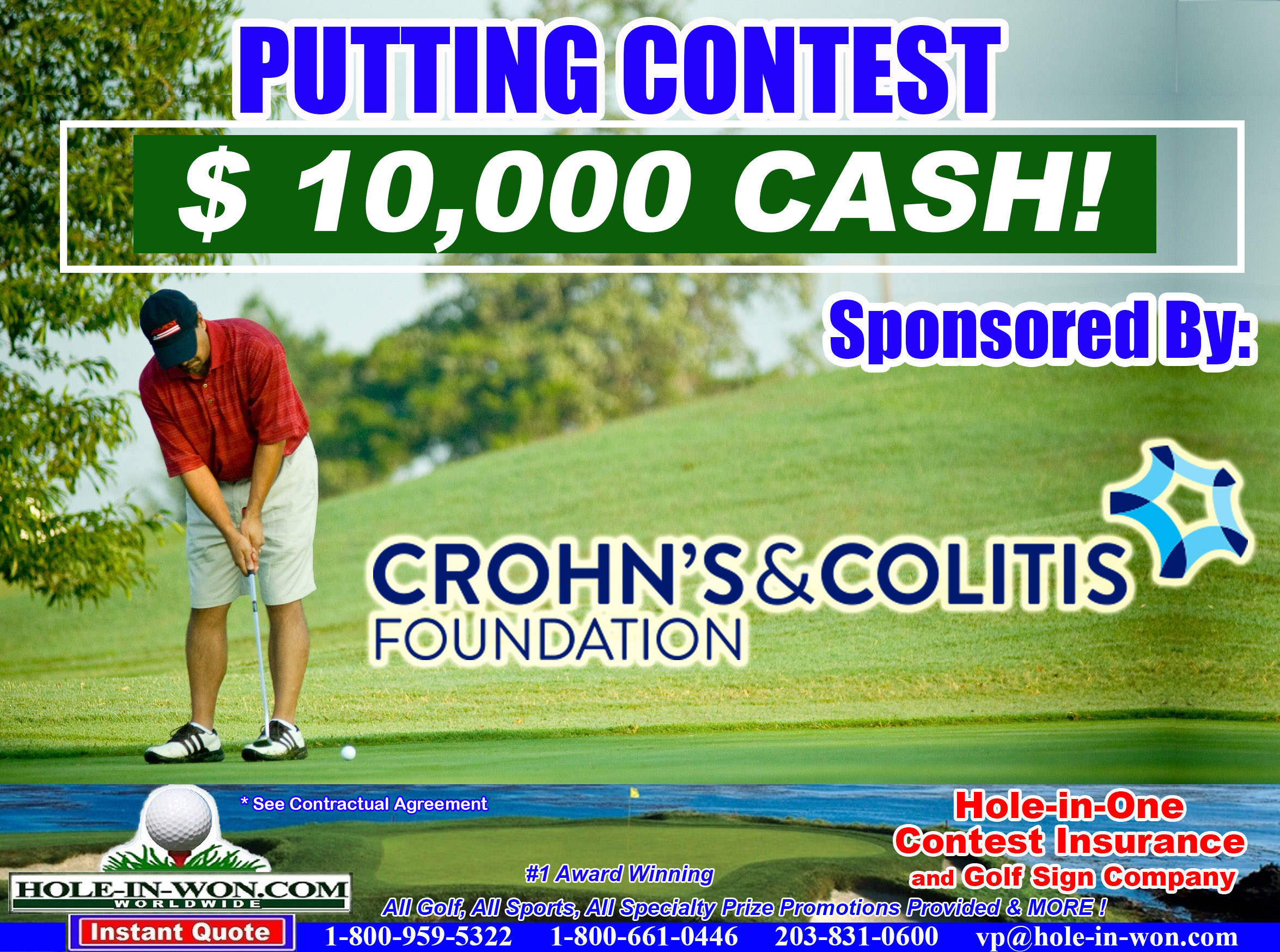 Putting Contest Rules Hole in One Insurance