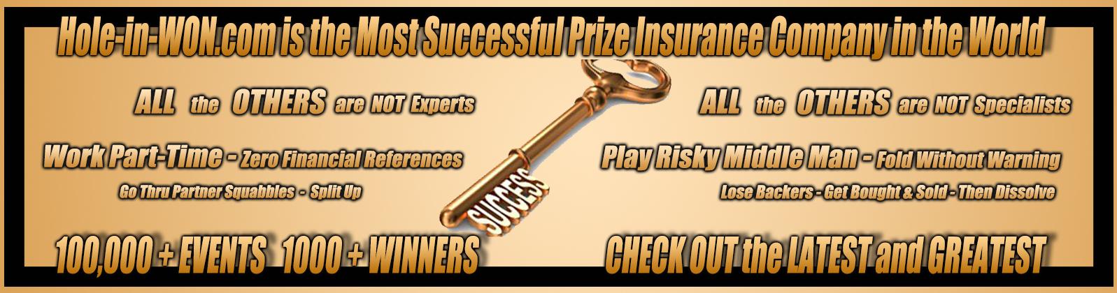 Success Key Golf Insurance Hole-in-WON
