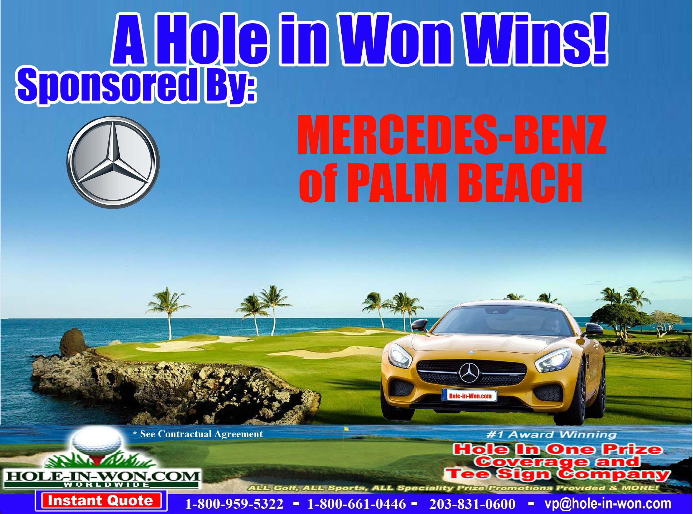 Mercedes benz hole in one images for Mercedes benz of the palm beaches