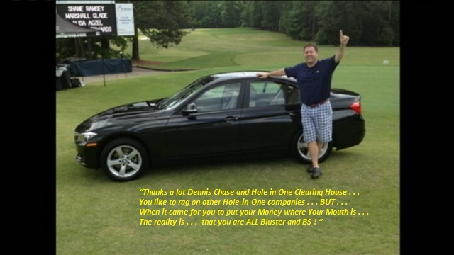 Hole in One fraud Dennis Chase GTAA Clearing House